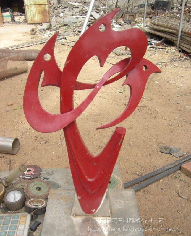 城市广场雕塑不锈钢创意丝带雕塑