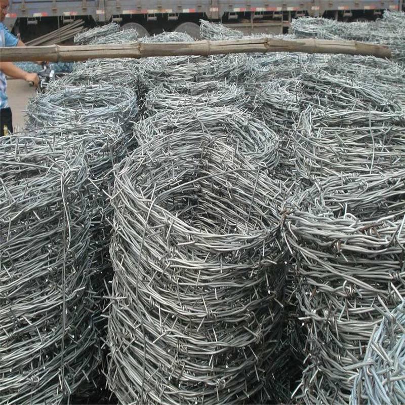 镀锌刺绳 单双股刺绳 铁刺线护网