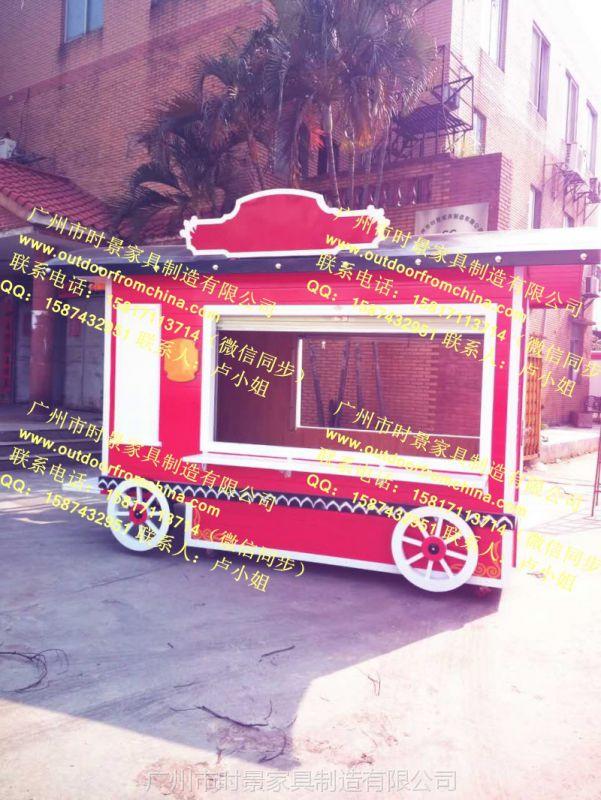 步行街可移动售卖亭集装箱可乐罐售卖亭火车头造型