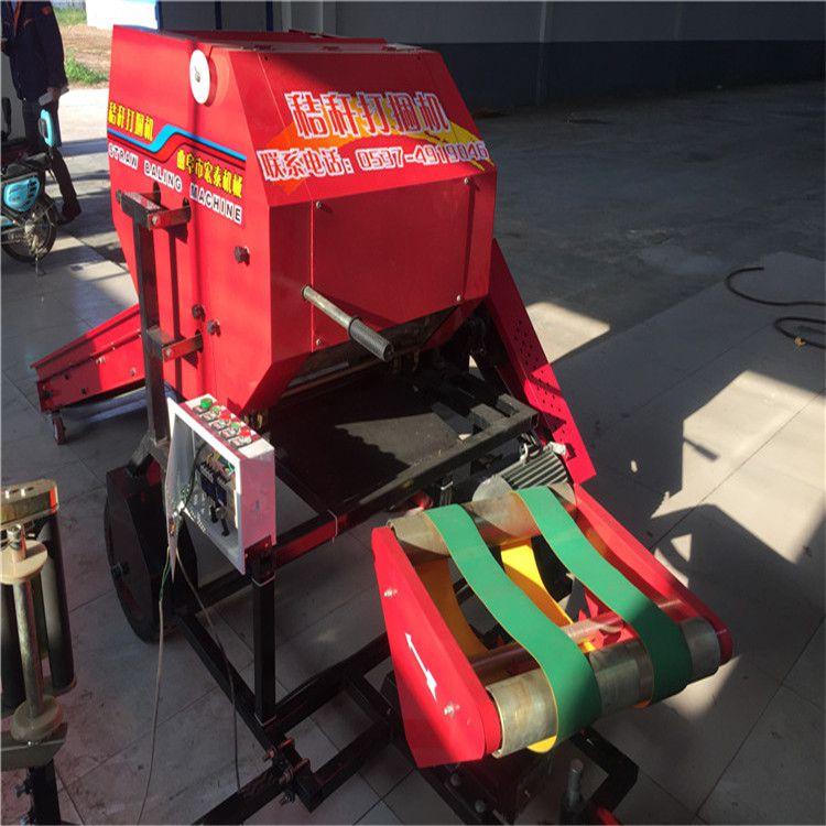 濮阳玉米秸秆青贮打包机 内蒙打捆机格 宏泰秸秆打捆包膜机 饲料回收机