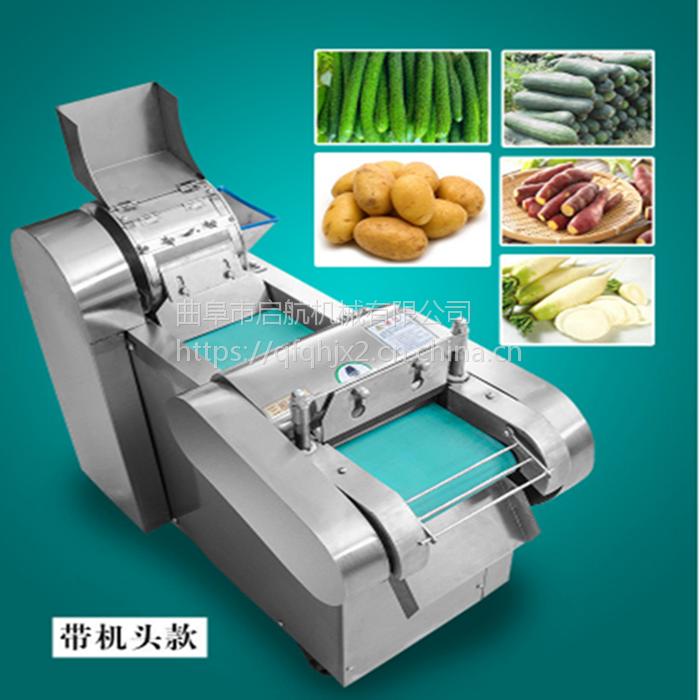土豆萝卜切片切丝机价格 启航商用果蔬切片切 生姜水果切丁机厂家