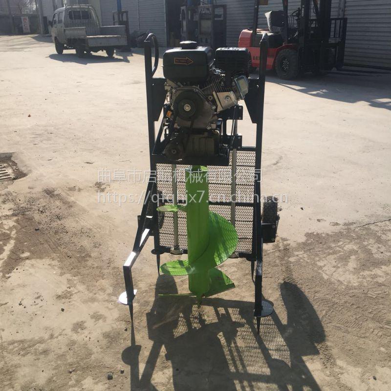 大功率汽油挖坑机 绿化种植打坑机价格 启航农用大棚立柱打眼机