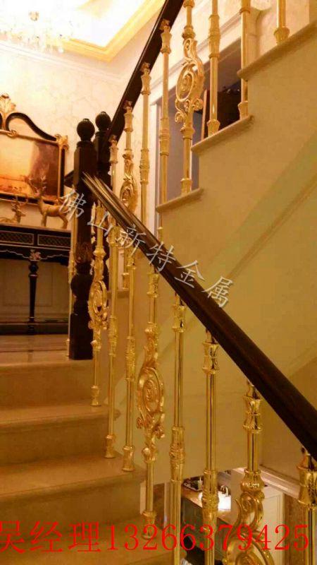 山东弧形铝艺楼梯6