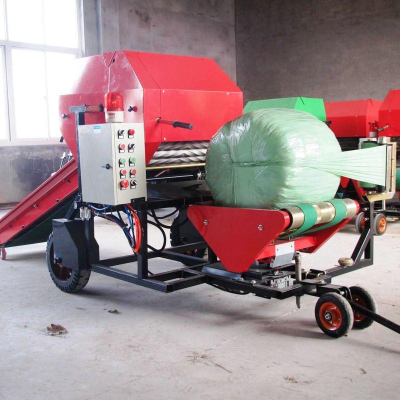 高效牧草包膜机 润众 产量高打捆包膜机