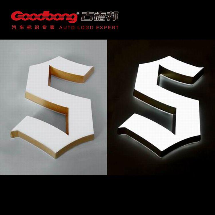 亚克力背光字 三维立体招牌字 不锈钢箱体发光字制作厂家