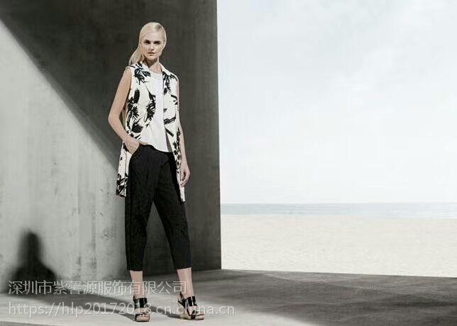深圳知名丽莫品牌桑蚕丝折扣女装 高端品牌尾货欧美纯色女装货源现货供应