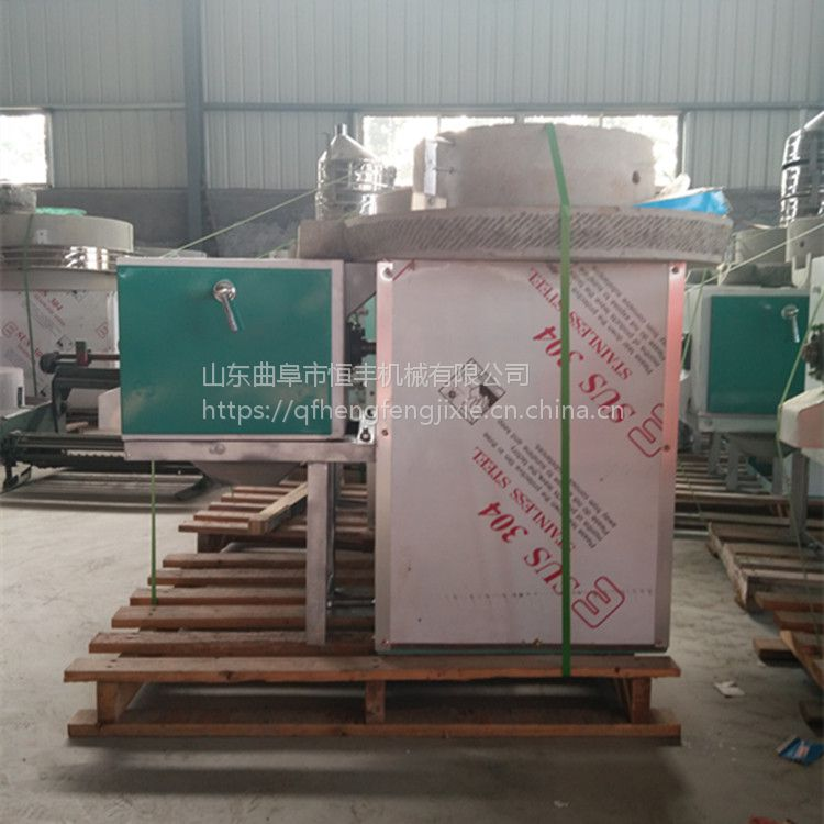 纯天然有机石磨面粉 原汁原味豆浆石磨机 自动天然石磨机
