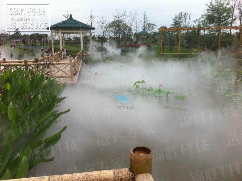 假山、园森、水景人造喷雾人间仙境