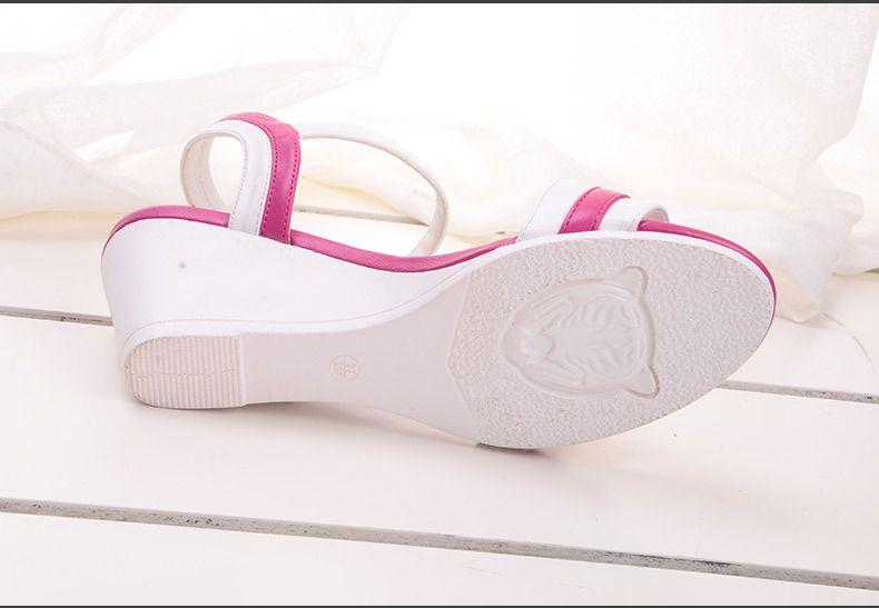 2015春夏新款欧美时尚女鞋坡跟中跟鱼嘴3ce眼线笔184图片
