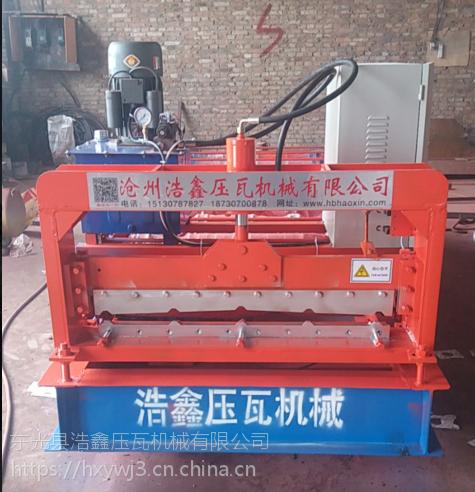 浩鑫厂家现货供应加宽840型彩钢压瓦机 1025型压瓦机