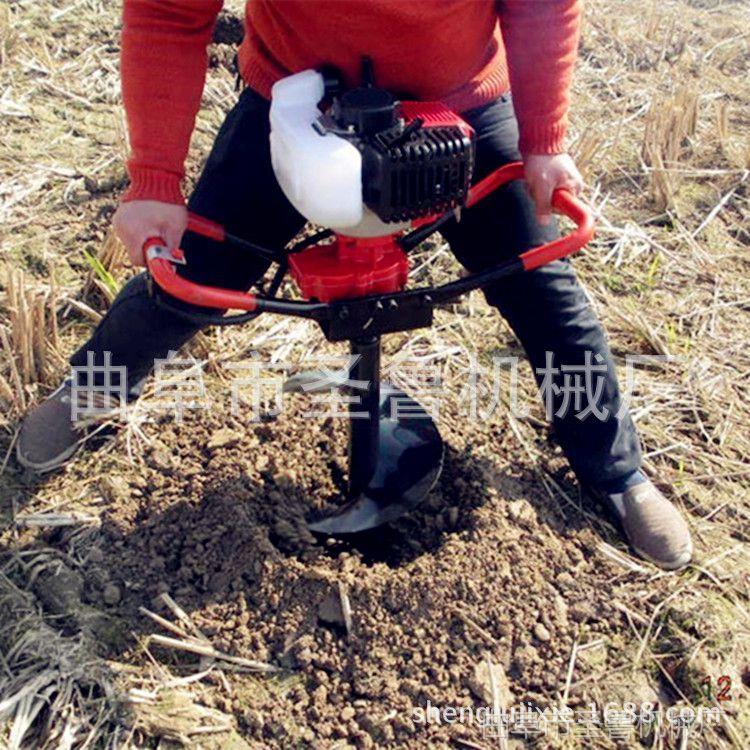 便携式单人小型挖坑机 汽油立柱打孔机 手提植树挖坑机