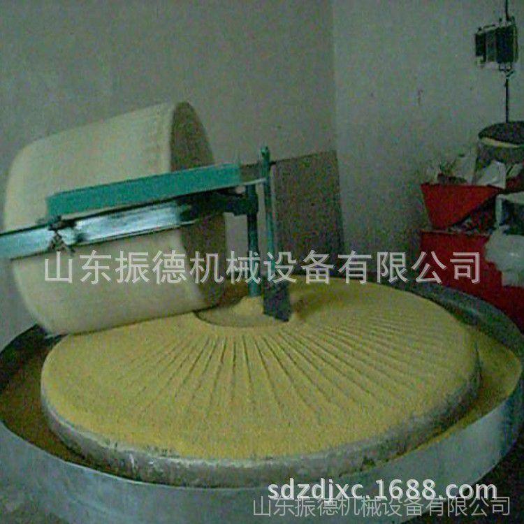 小石碾面粉机 振德供应 手推石碾子 小型石碾磨面机械