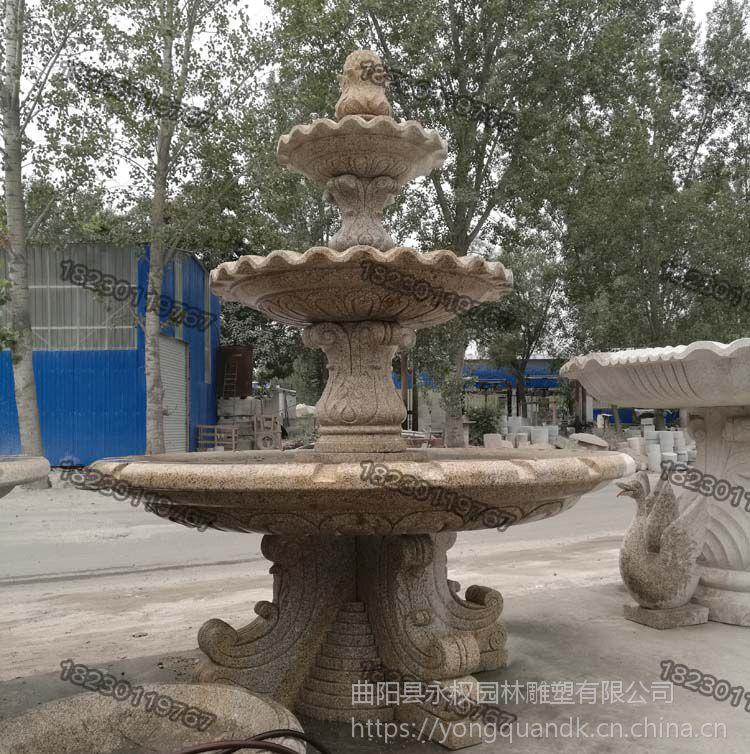 大连石雕喷泉供应厂商_石雕喷泉现货批发厂家_永权雕塑