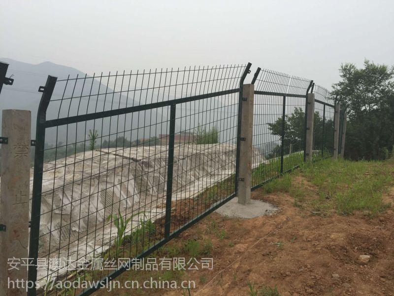 澳达网业生产银川铁路线路防护栅镀锌丝铁路防护网