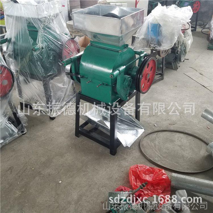 供应花生碎加工机器 辽宁熟花生米破碎机 电动对辊杂粮挤扁机型号