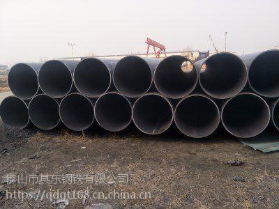609*16 材质Q235B 直缝钢管在线生产中