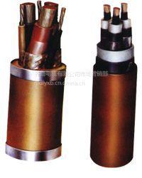 供应齐鲁牌裸铜线交联绝缘PVC护套钢带铠装电力蝶缆 VV 3*1.0