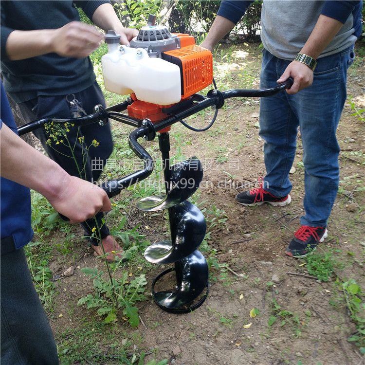 立水泥杆打孔机 山地硬土地挖坑机 双人操作挖坑机50直径