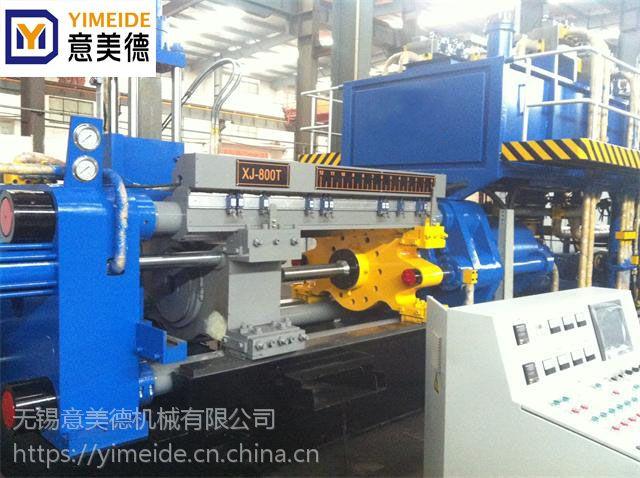 铝棒挤压机,无锡铝型材设备,630吨铝管挤压机工艺流程简单,设备投资少