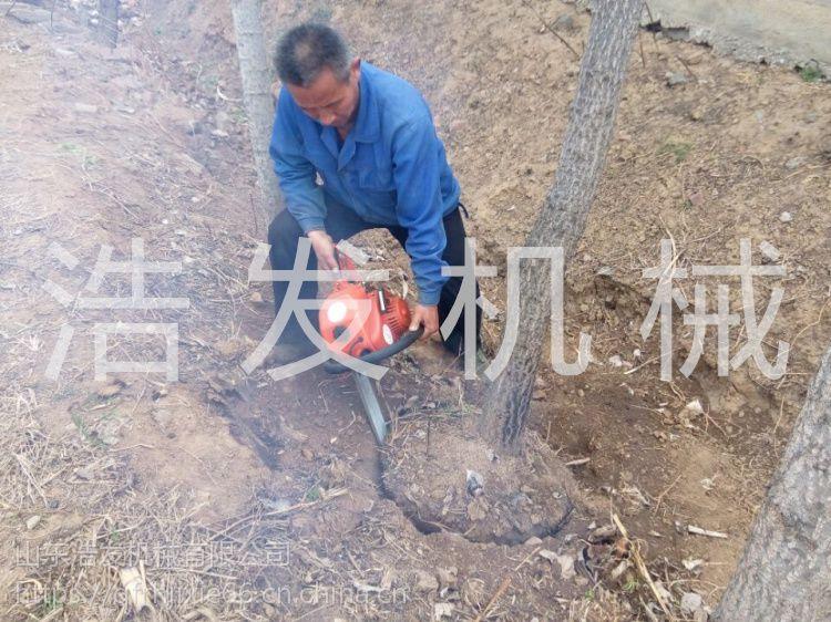 汽油挖树机制造 新型链条移树机