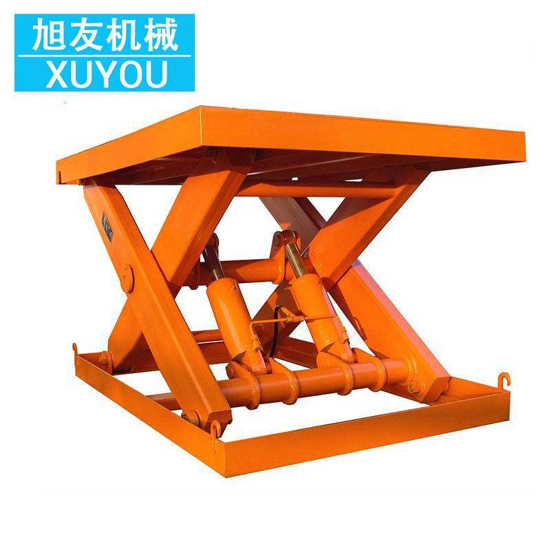 固定剪叉式升降平台 电动液压升降台 升降货梯液压装卸货台图片