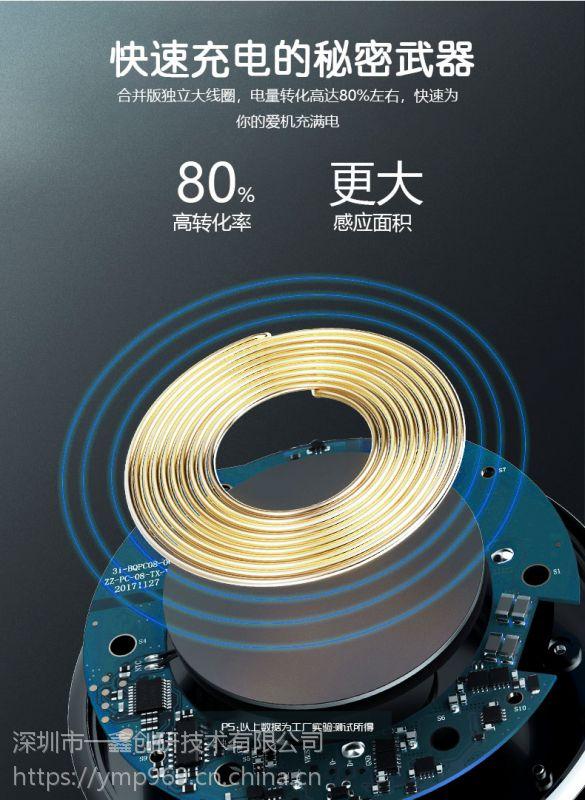 qi标准车载磁吸无线充电器手机支架通风口夹iphoneX苹果8/三星S9一鑫创研