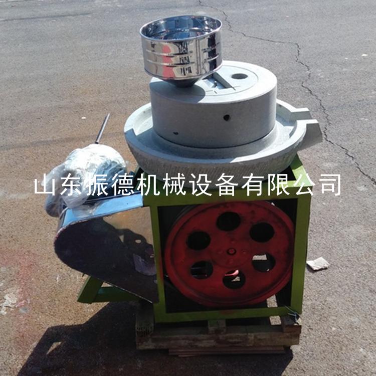 家用半自动麻汁米浆石磨机 电动石磨豆浆机 香油肠粉磨 振德牌