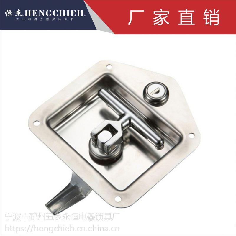 恒杰MS858 304不锈钢,铁质面板锁 工程车工具用锁
