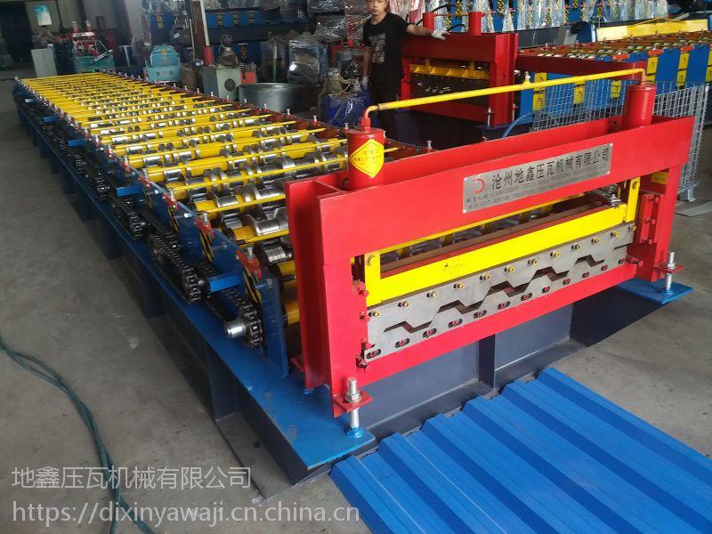 角驰压瓦机设备直销厂家河北地鑫760角驰压瓦机