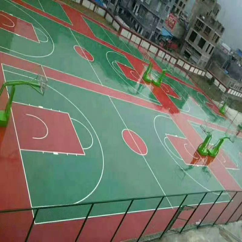 工厂价直销塑胶篮球场施工奥博体育器材系列 奥博羽毛球场塑胶跑道奥博厂家