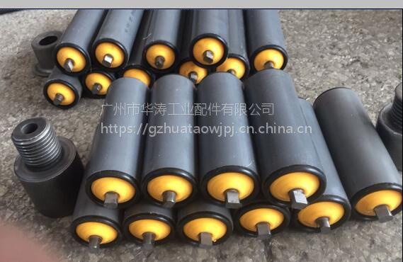 广州厂家定做无动力PVC自动化流水线滚筒 塑料滚筒 防水滚筒