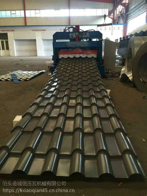 800竹筒琉璃瓦机金诚信使用高速泵站生产速度提高一倍