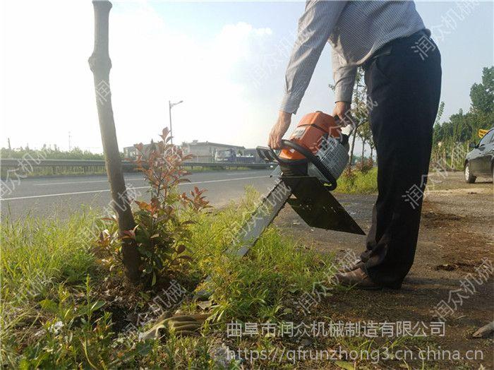 润众汽断移苗机 手持式断根器土球机 铲树园林断根土球机