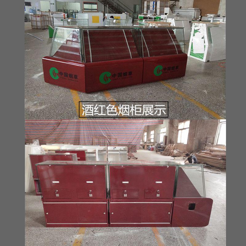 广州厂家定制烤漆超市烟柜 烟转角柜组合收银台 双抽斗1.5长款烟草柜 酒柜