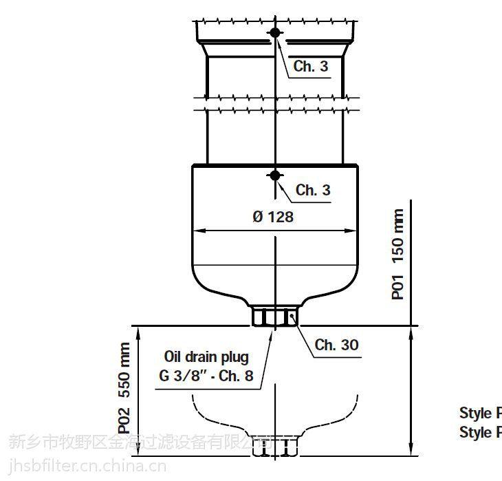 替代pall高压过滤器滤芯 HH8340D48KSU