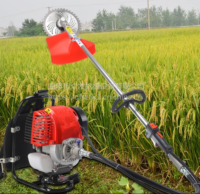 农用四冲程杂草割草机 汽油手推式割草机 自走式苜蓿草除草机