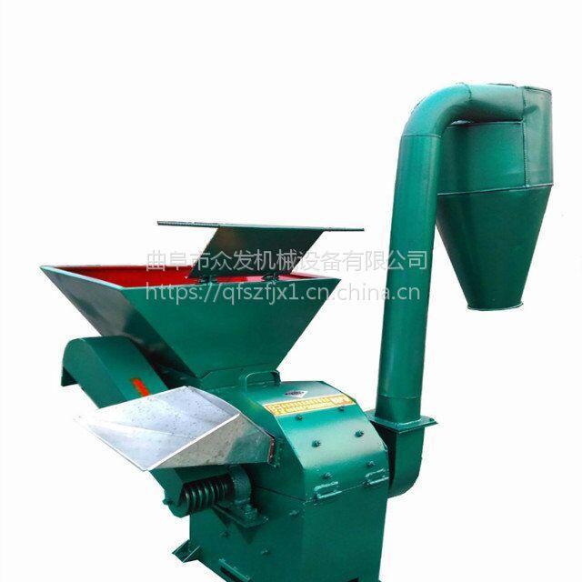 干湿秸秆自动进料粉碎机 沙克龙除尘草粉机