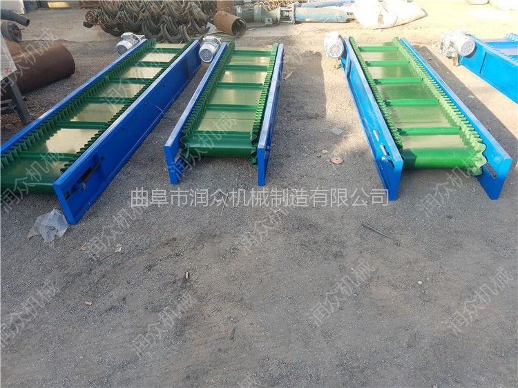 废纸打包输送机 水泥仓库装卸皮带输送机 润众
