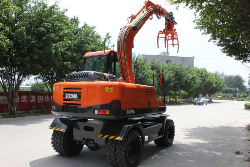 厂家直销8吨高配置轮式挖掘机