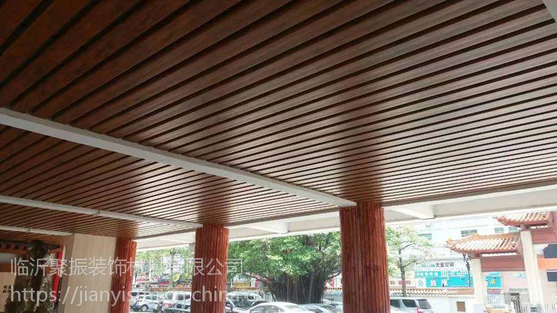 防城港绿可木100*50方通吊顶办公室装饰效果图