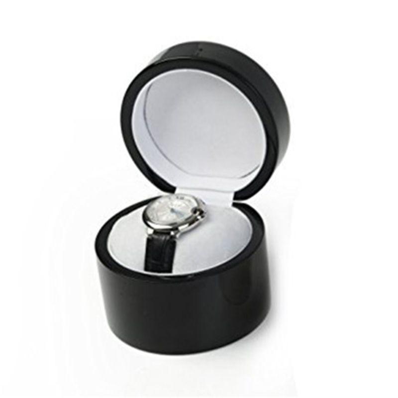 定做实木钢琴烤漆手表盒单只便携旅行圆形手表包装盒高档