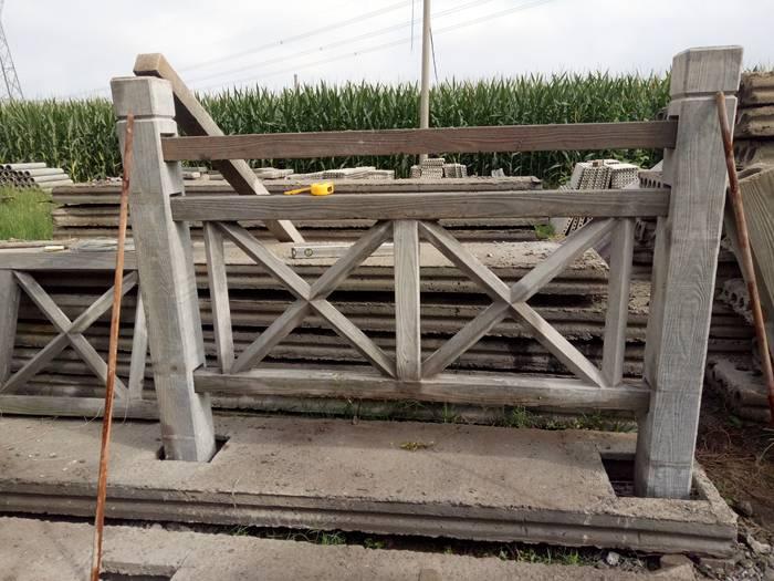 水泥制品厂直供 混凝土仿木护栏 河道栏杆水泥栏杆