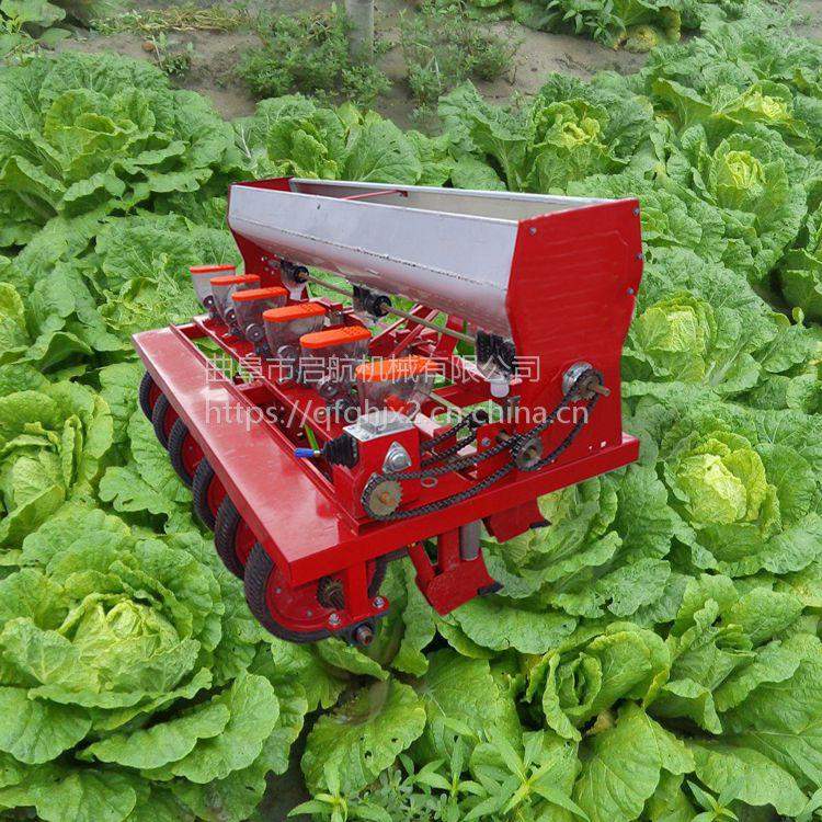 拖拉机谷子播种机 多功能启航牌桔梗种植精播机 谷子高效播种机价格