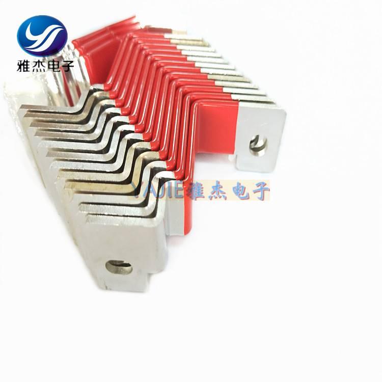 雅杰汽车导电软铜排/动力机械导电连接片实物大图