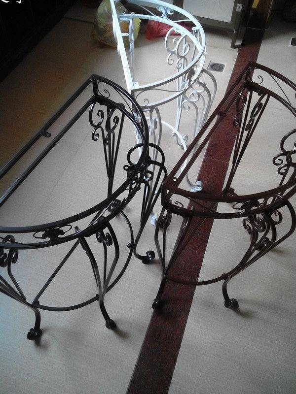 家具欧式圆桌客厅家具玄关半价格墙角装饰桌特价家美克美铁艺图片