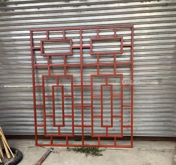 木纹铝窗花 复古铝合金窗花厂家