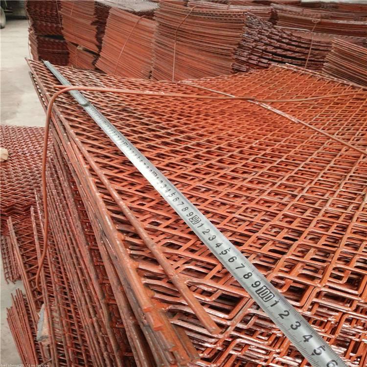 海宁阻燃、承重力强高空踩踏板钢笆片规格——菱形钢笆片(钢板拉伸网)定制