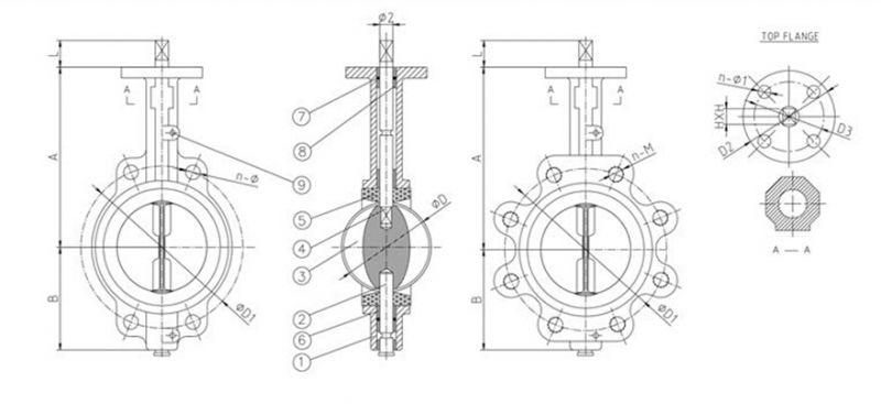 厂家直销LT凸耳式双半轴无销蝶阀、D71X-16蝶阀、热力专用蝶阀