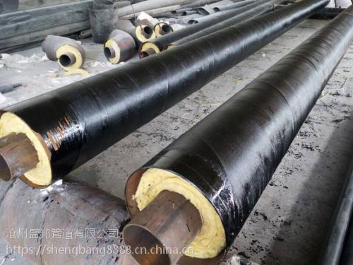 盛邦钢套钢直埋预制保温管 预制直埋保温管生产厂家
