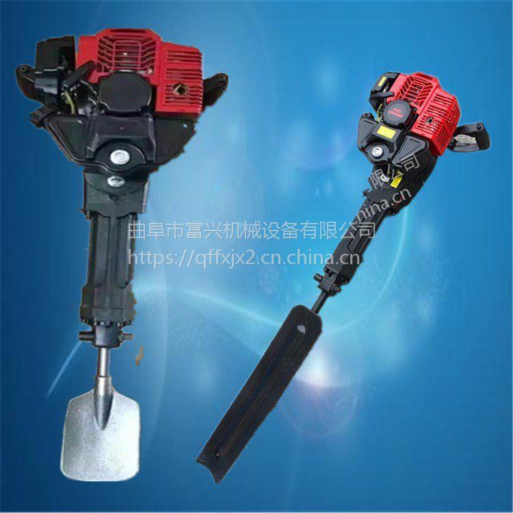 多功能锯齿式挖树机 富兴 单人操作小型铲式断根起树机